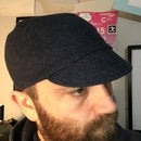 Image 2 of Wool tweed cycling cap - navy