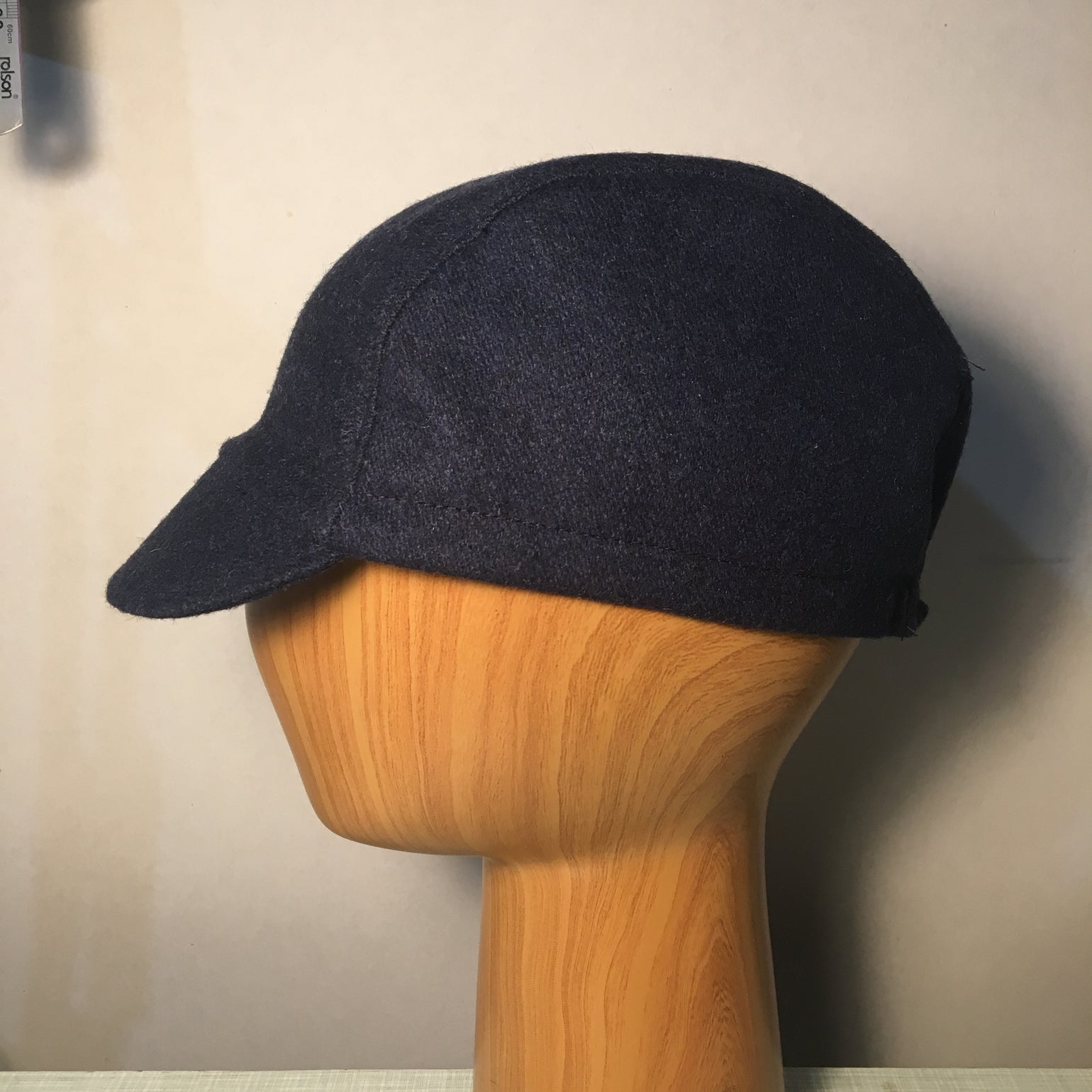 Image of Wool tweed cycling cap - navy