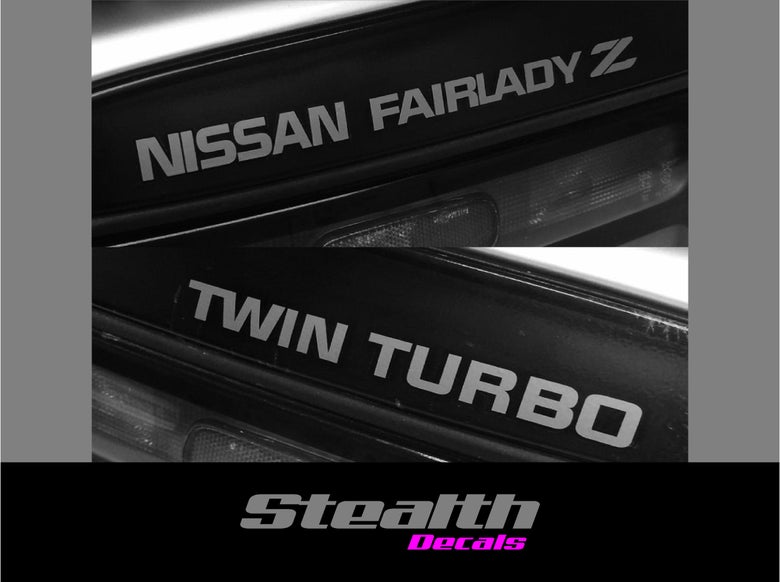 Image of Nissan Fairlady Z Twin turbo replacement rear stickers/ decals Premium Quality