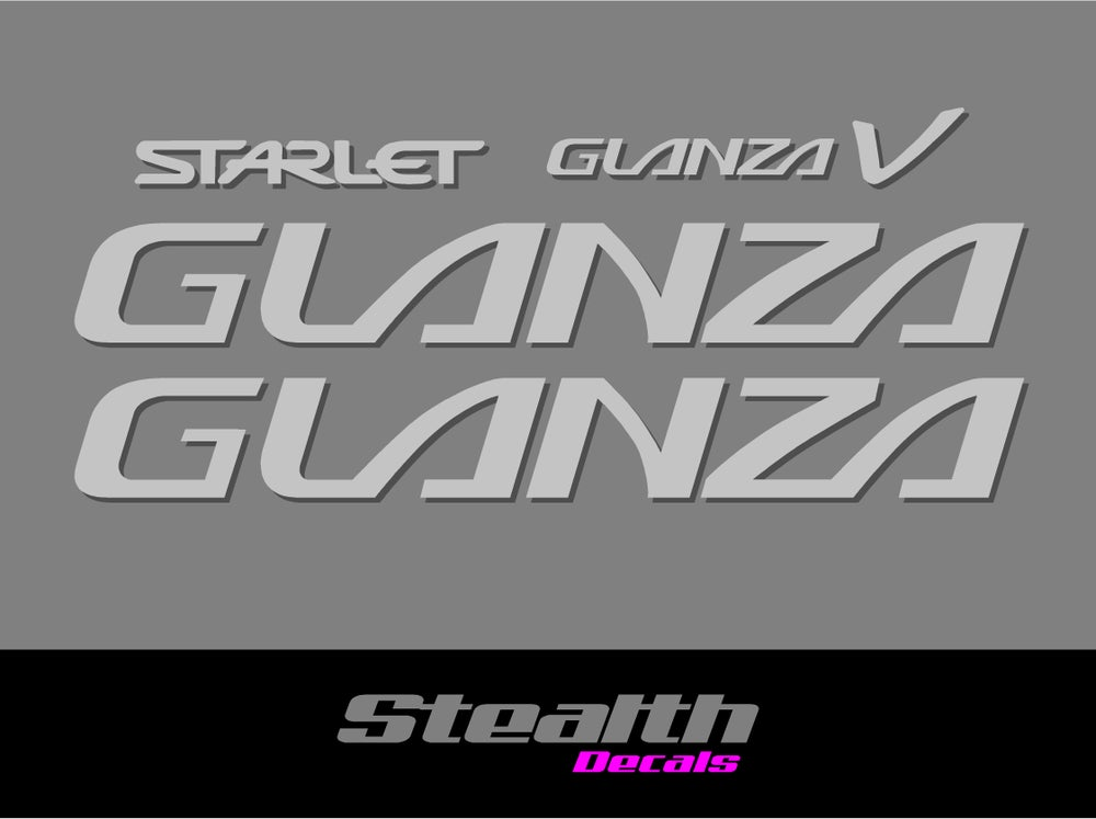 Image of Starlet Glanza V turbo sticker/ decals set Premium Quality