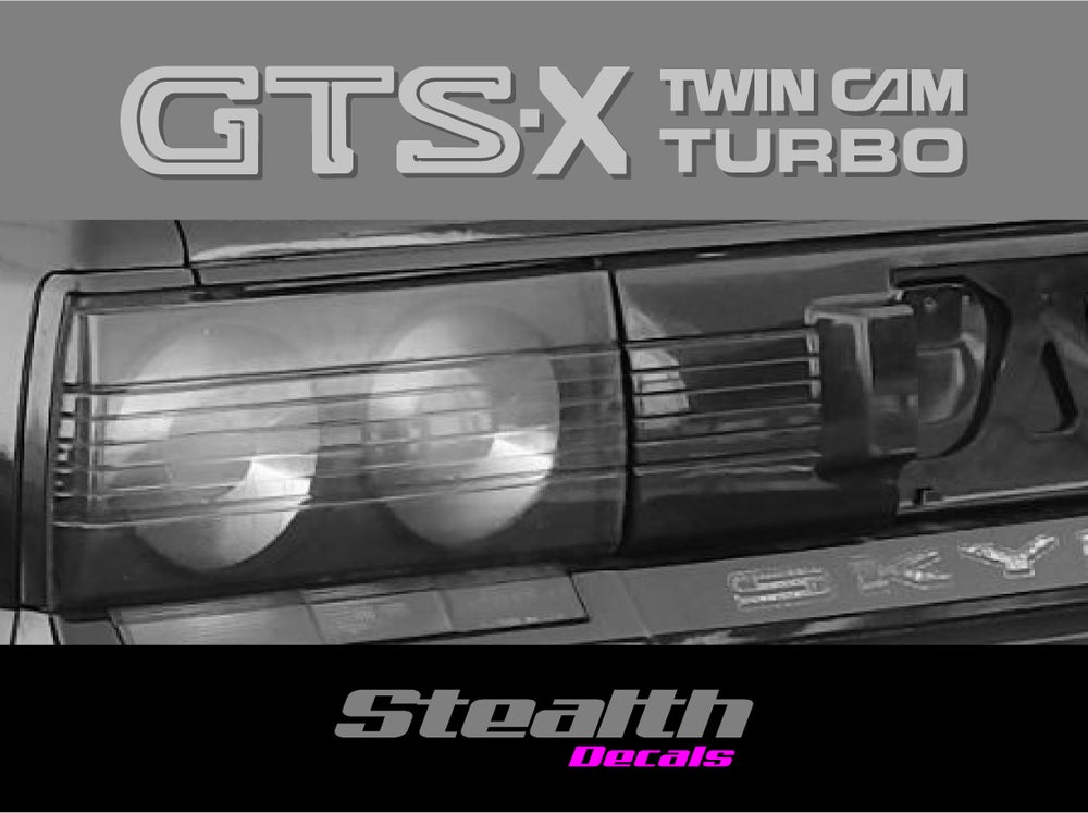 Image of Skyline R31 GTS-X rear sticker/ decal twin cam turbo Premium Quality