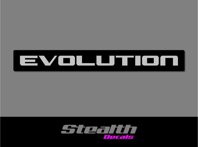 Image of Mitsubishi Shogun pajero EVOLUTION Tailgate rear sticker/ decal Premium Quality