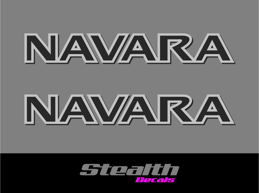 Image of NAVARA Roof Bar stickers/ decals x2 D22, D40, D23, NP300 Premium Quality