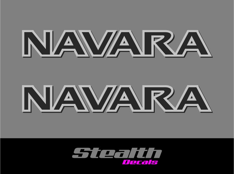 Image of NAVARA Roof Bar stickers/ decals x2 D22, D40, D23, NP300 Premium Quality