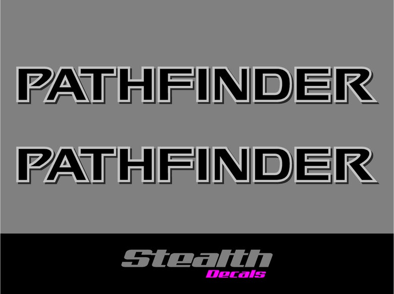 Image of PATHFINDER 2005-2012 Roof Bar stickers/ decals x2 Premium Quality