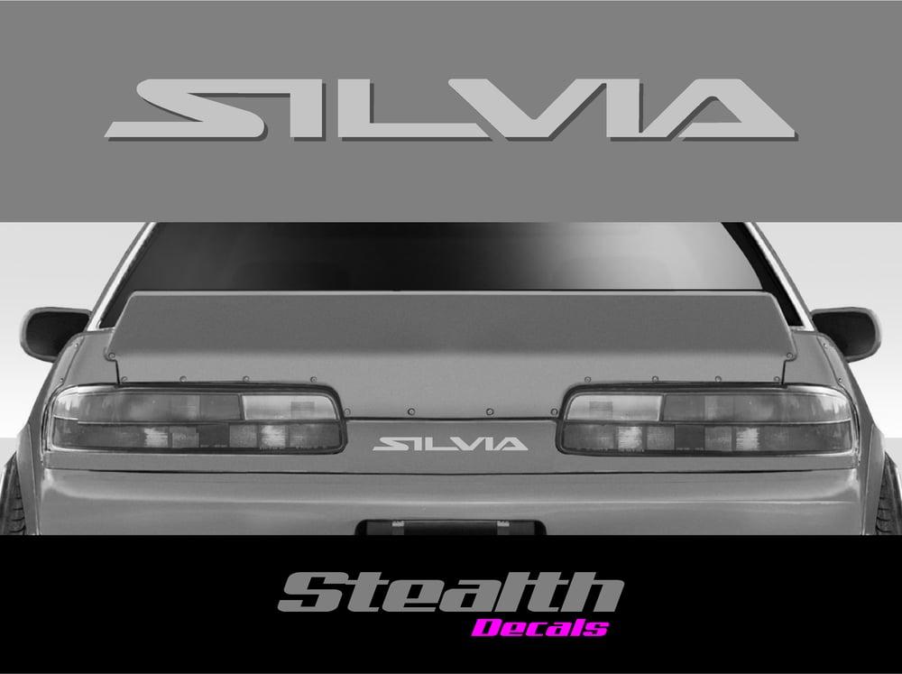 Image of SILVIA S13 rear sticker/ decal 200sx 240sx 88-94 turbo Premium Quality