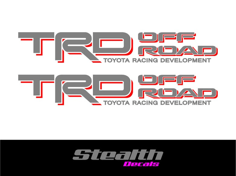 Image of TRD OFF ROAD Side stickers/ decals x2 Premium Quality