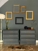 Image 1 of Dark grey G plan chest of drawers/ oversized bedsides
