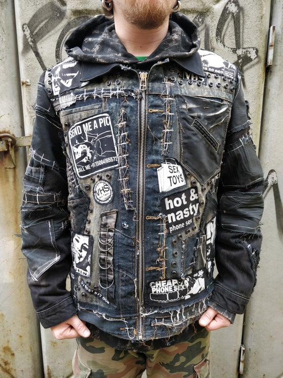 Image of 18+ Frankenstein distressed jacket