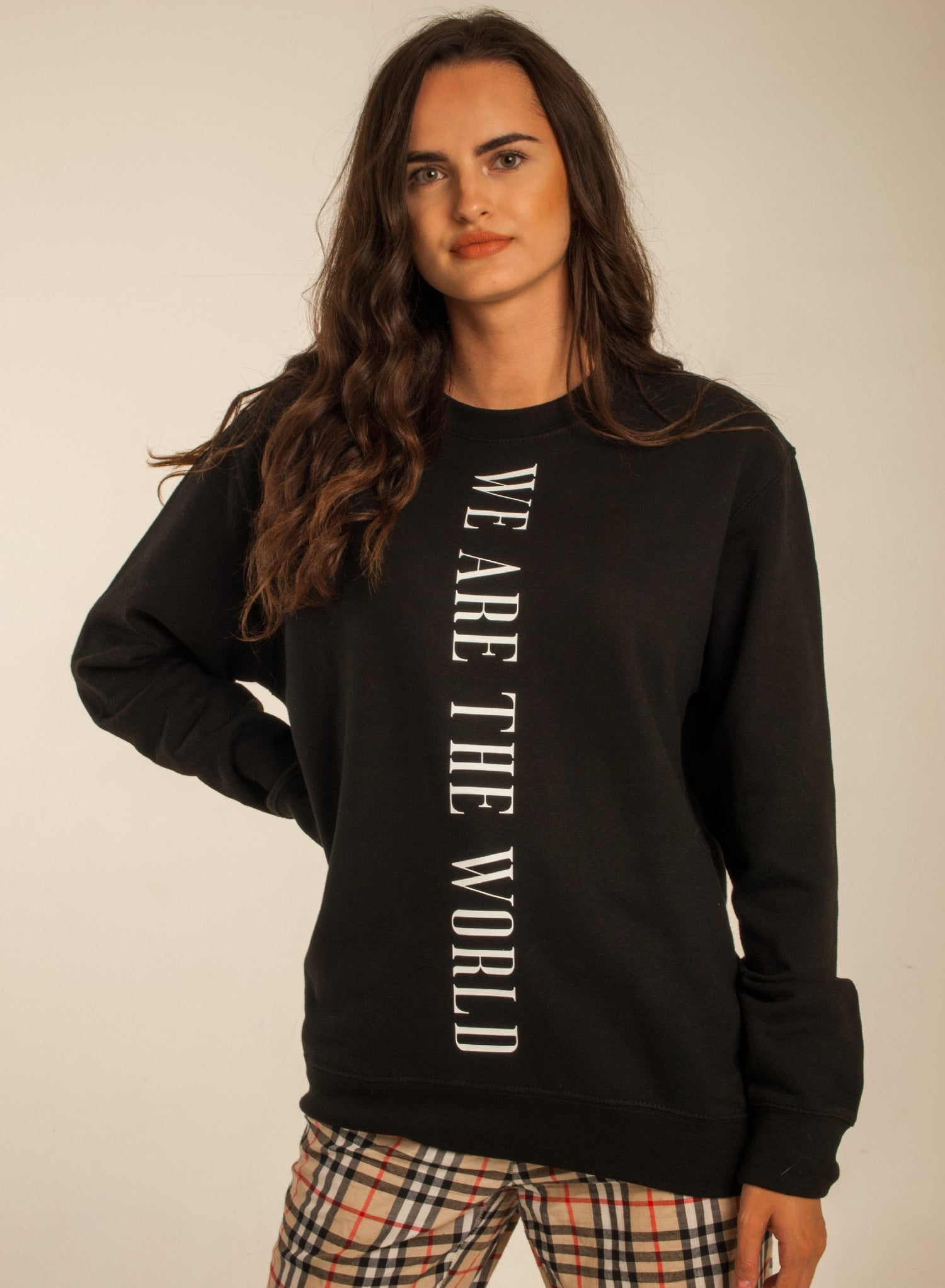 Image of We Are The World Sweat Black