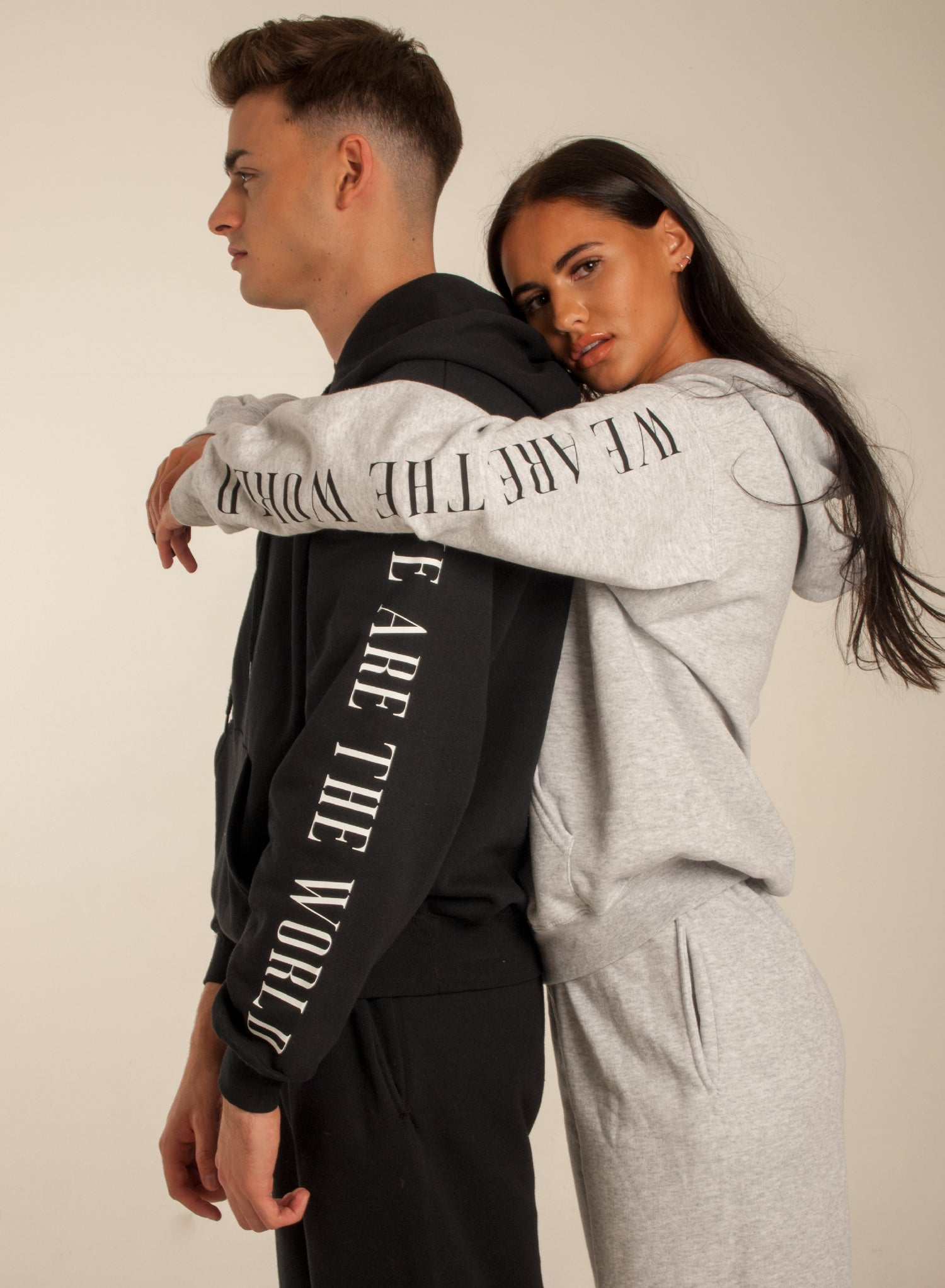 Image of We are the world Black Tracksuit