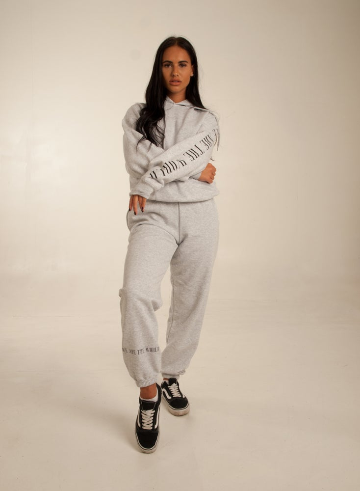 Image of We are the world Grey Tracksuit