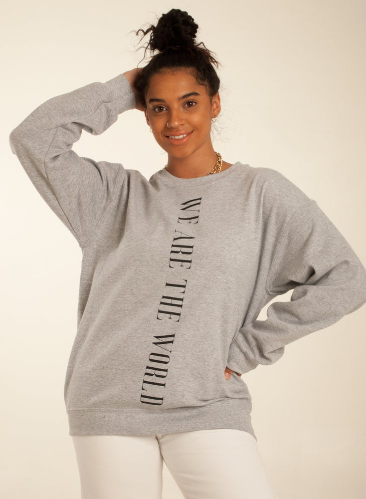Image of We Are The World Sweat Grey