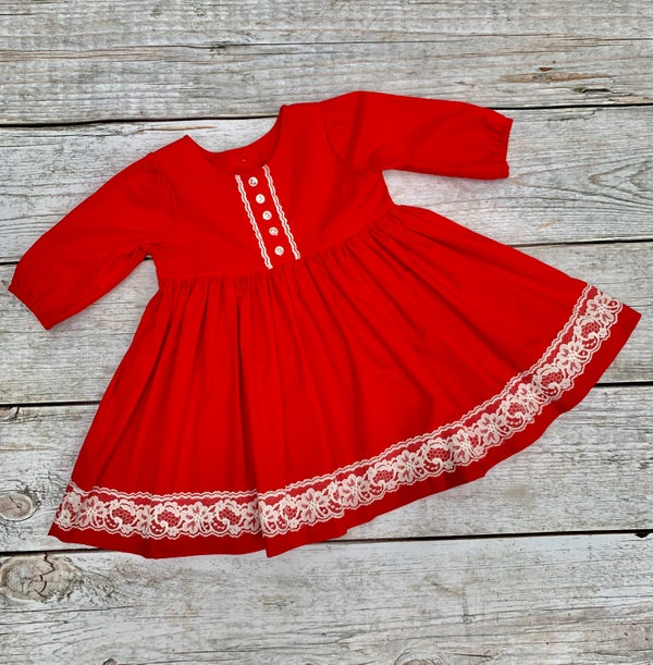 Image of Vintage Dress in Red size 4