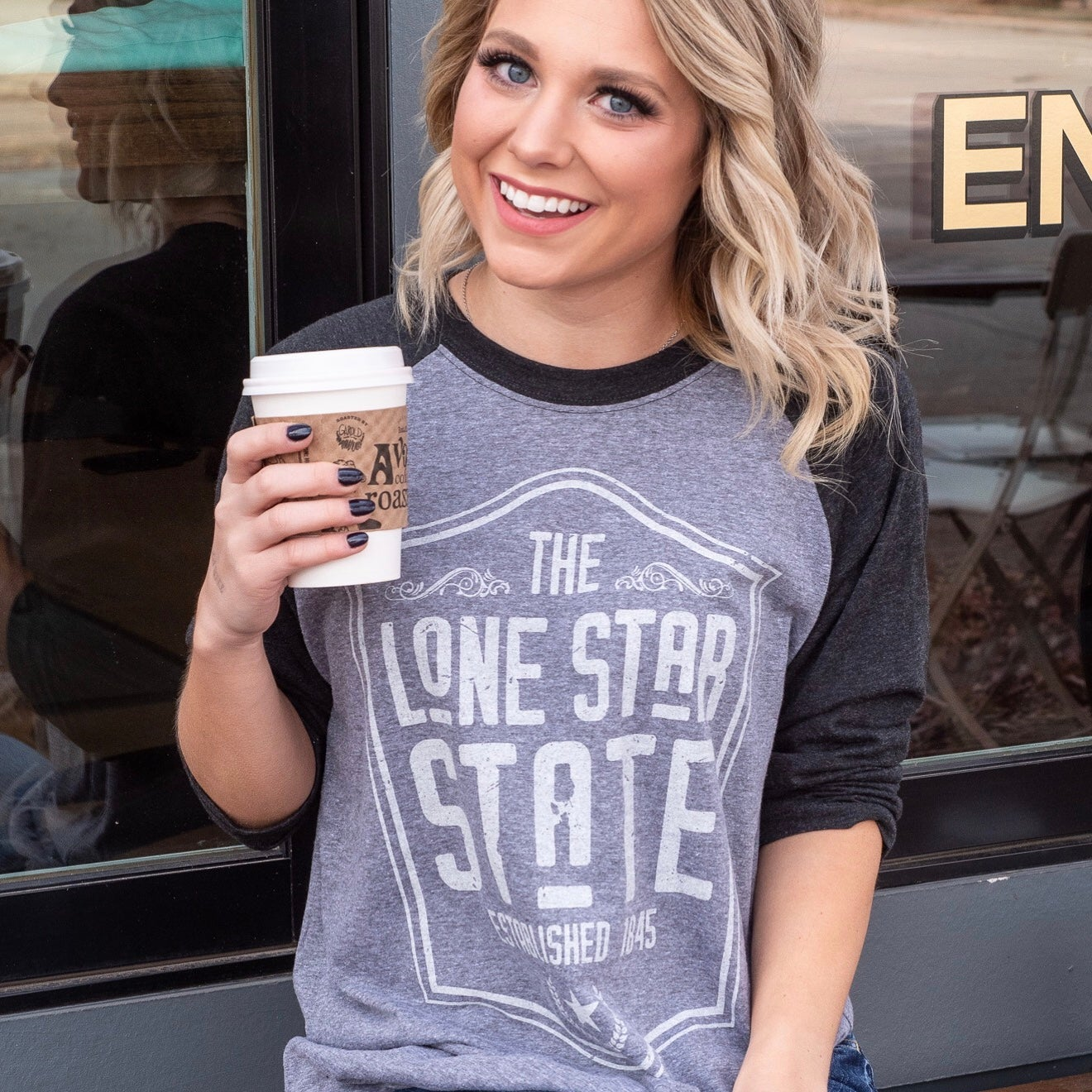 Image of Lone Star State - 3/4 Baseball tee