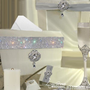 Image of Esprit Pure of Heart Reception Sign In Table Decor