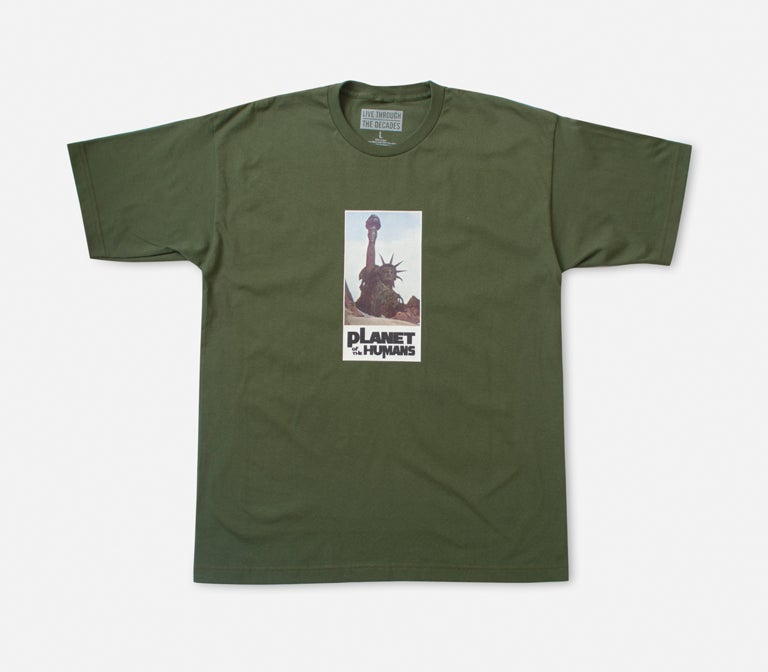 Image of Planet Of The Humans Tee Olive