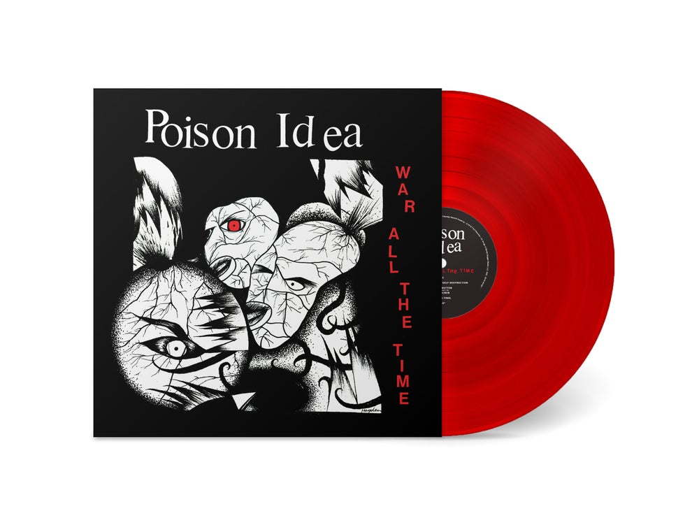 "Image of POISON IDEA - ""War All The Time"" LP (Translucent Red)"