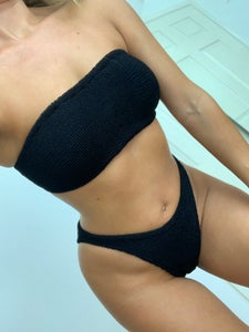 Image of Black Simple Bandeau Bikini