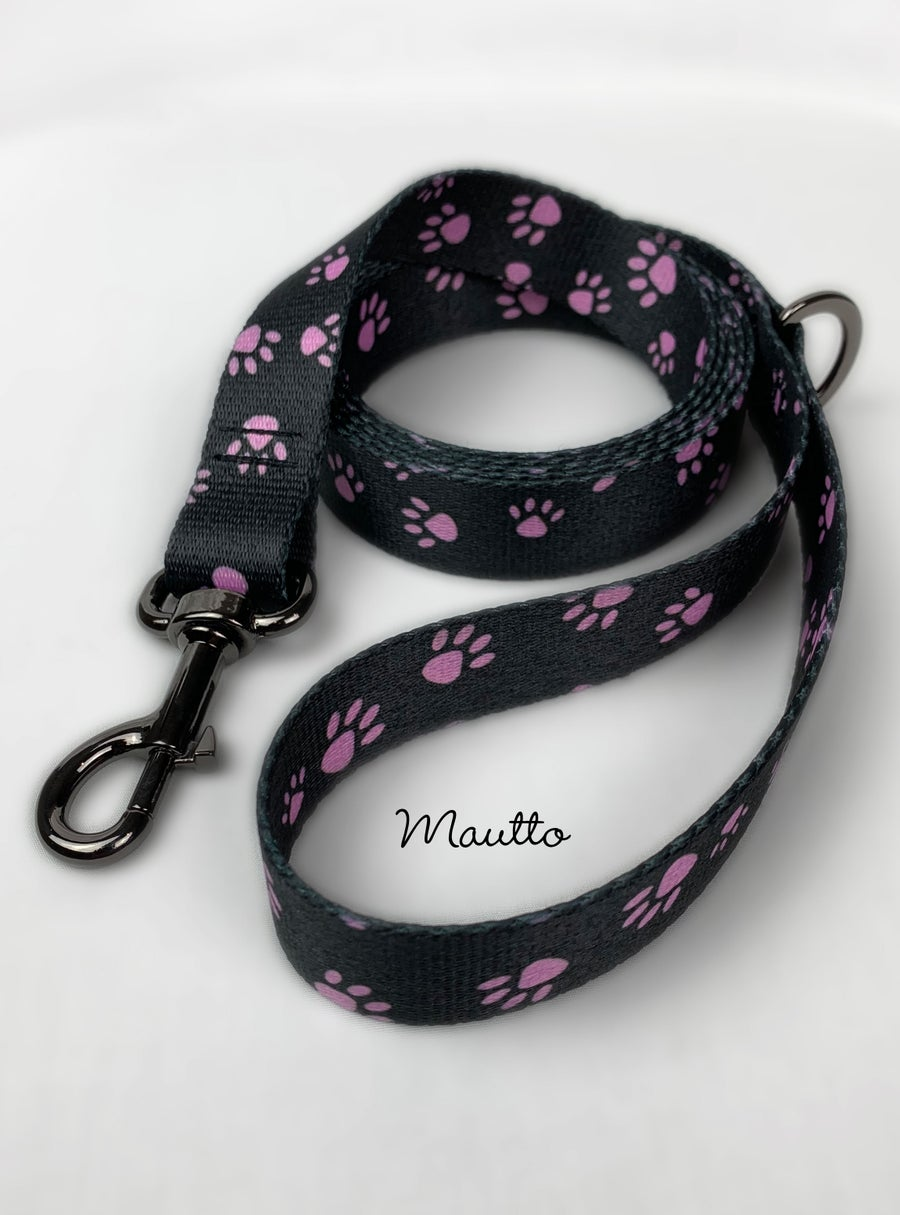 Image of Pink Paws Pet / Dog Leash for Medium to Large Size Animal - 4 Lengths (Short to Extra Long)