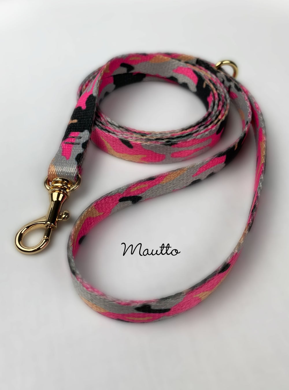 Image of Pink Camo Dog Leash for Petite to Small Size Animal/Cat/Pet - 4 Lengths (Short to Extra Long)