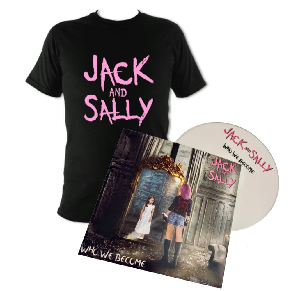 "Image of Jack and Sally Unisex T-Shirt and ""Who We Become"" CD Bundle"