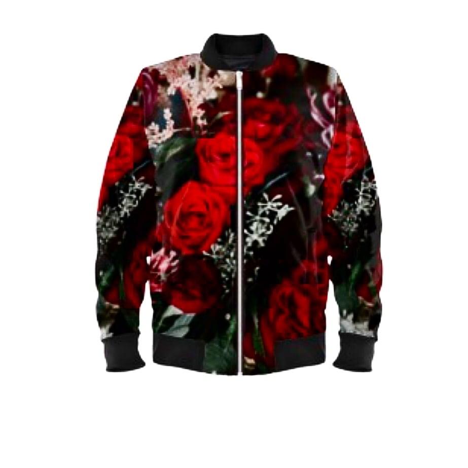 Image of Floral Bomber Jacket