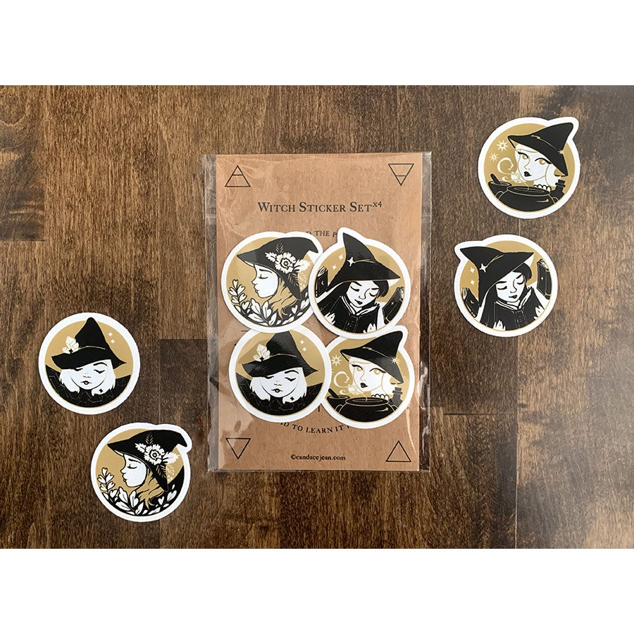 Image of Witch Sticker Set x4