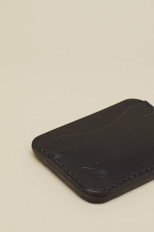 Image of Double Card Holder in Coal