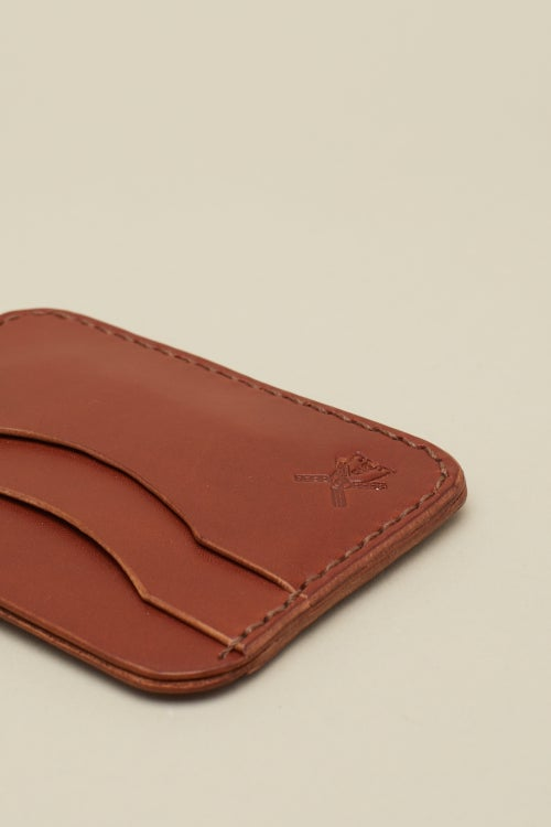 Image of Double Card Holder in Mahogany