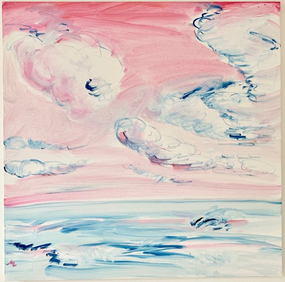 "Image of Pink Skies Montauk, 30"" x 30"""