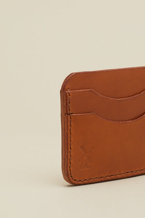 Image of Double Card Holder in Tan