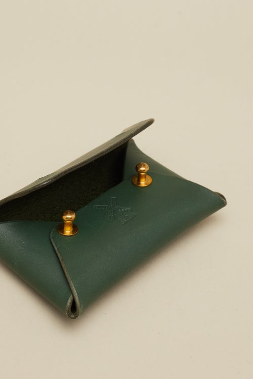 Image of Envelope Wallet in Racing Green