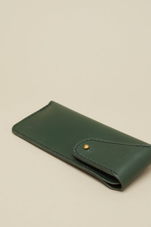 Image of Glasses Case in Racing Green
