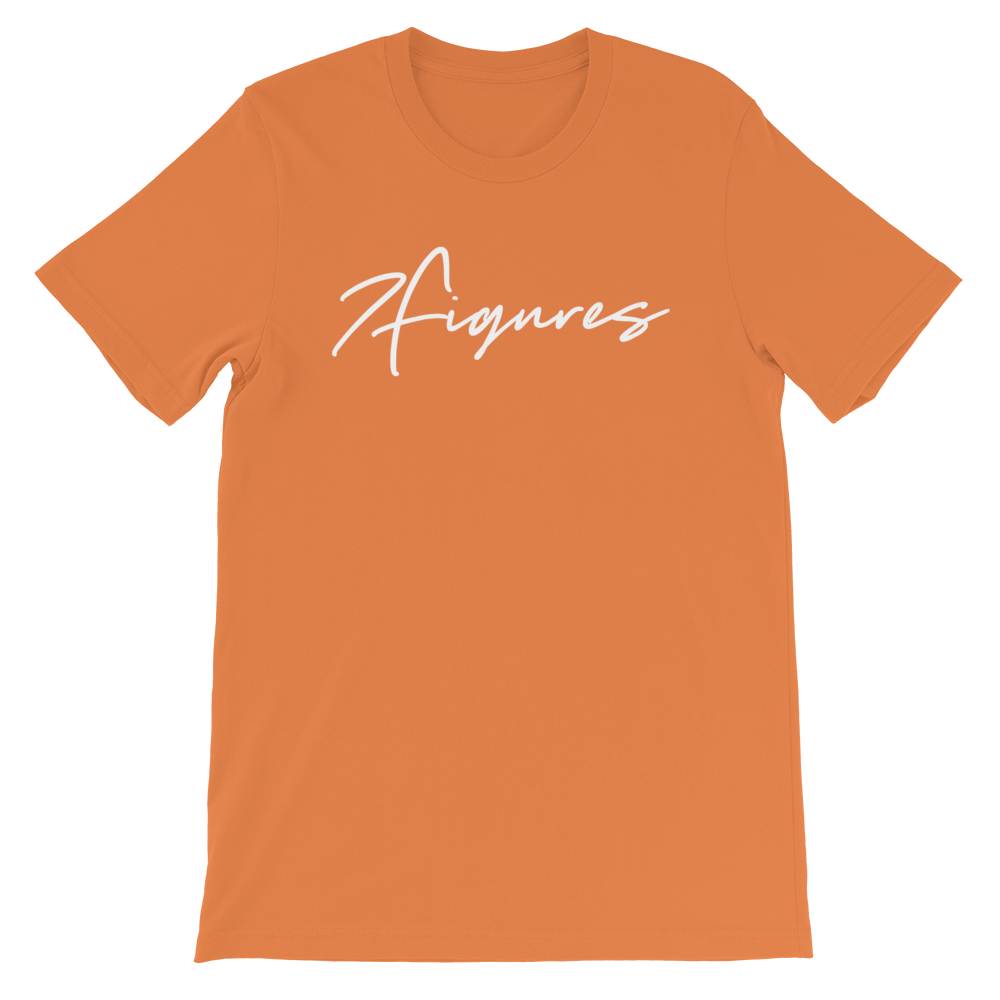 "Image of 7 Figures ""Script"" Unisex Tee Orange"