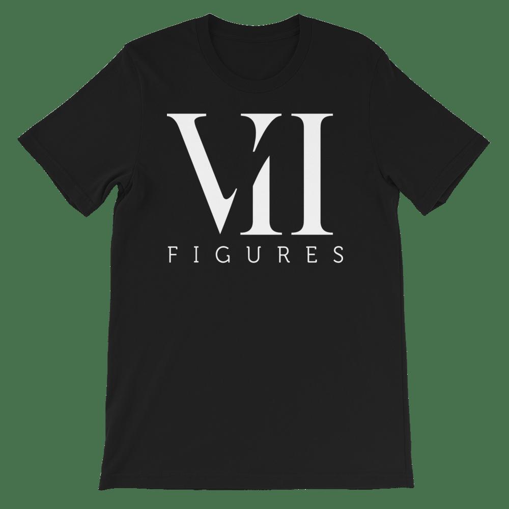 """Image of VII Figures """"Roman Numeral"""" Unisex Tee Black"""