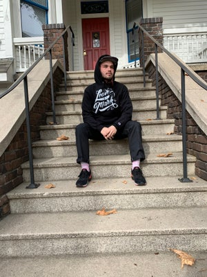 Leave Your Mark Script Champion Hoodie