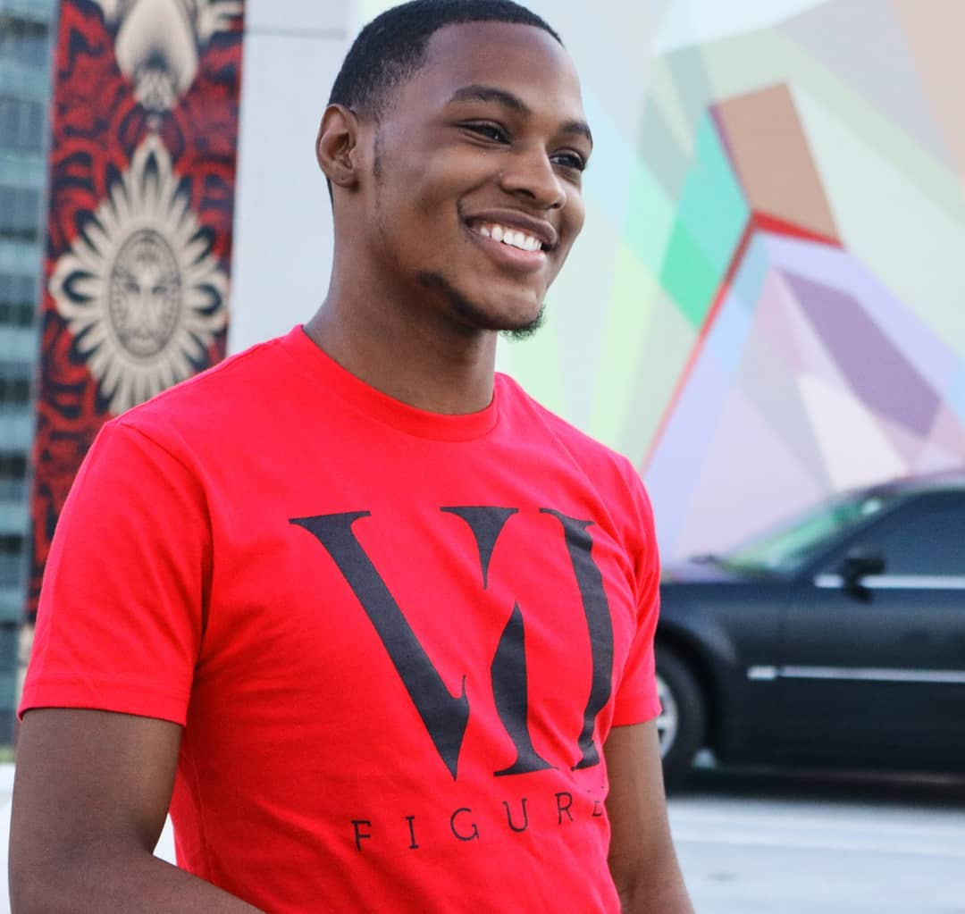 "Image of VII Figures ""Roman Numeral"" Unisex Tee Red"