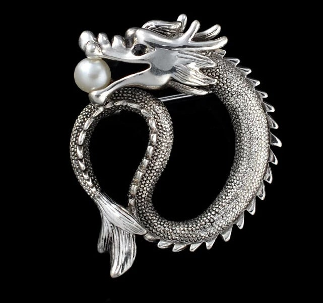 Image of SLAY THE DRAGON BROOCH