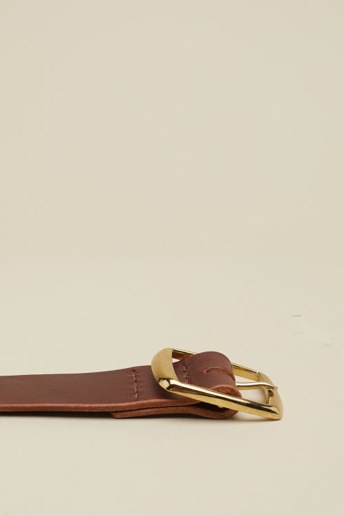 Image of Square Buckle in Chestnut