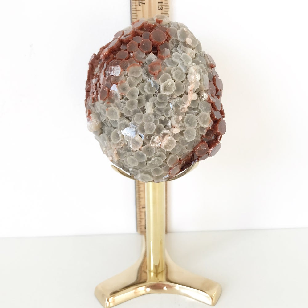 Image of Aragonite no.95 + Brass Stand