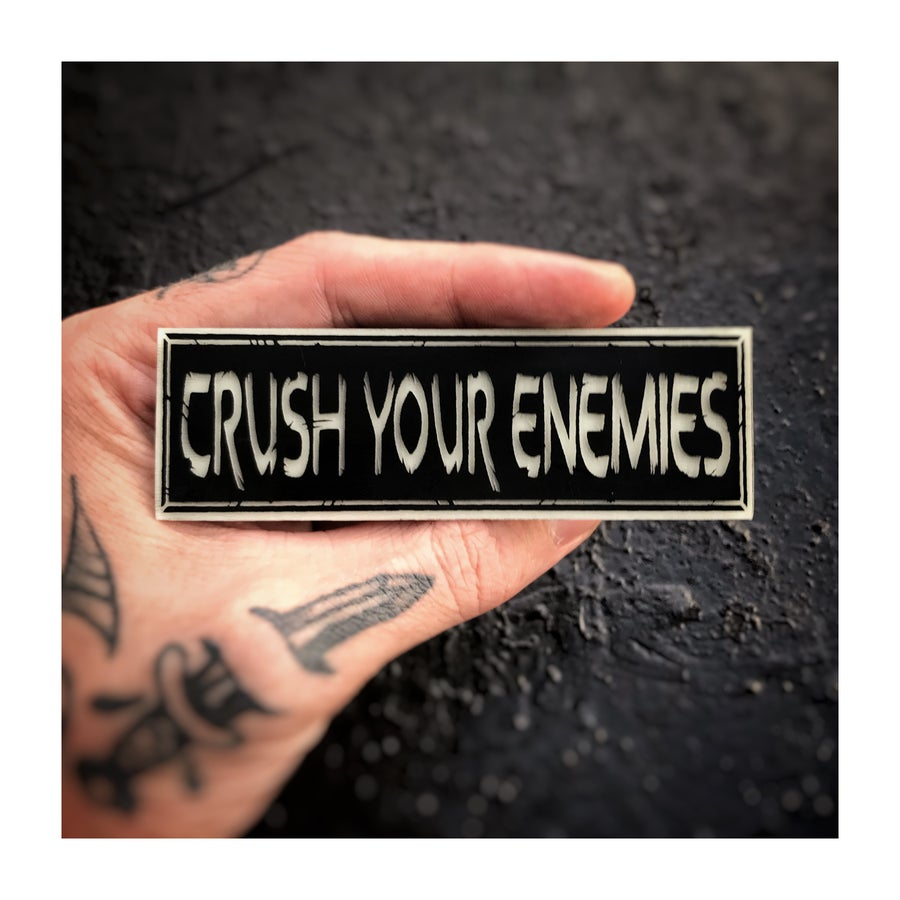 Image of Crush Your Enemies glow patch