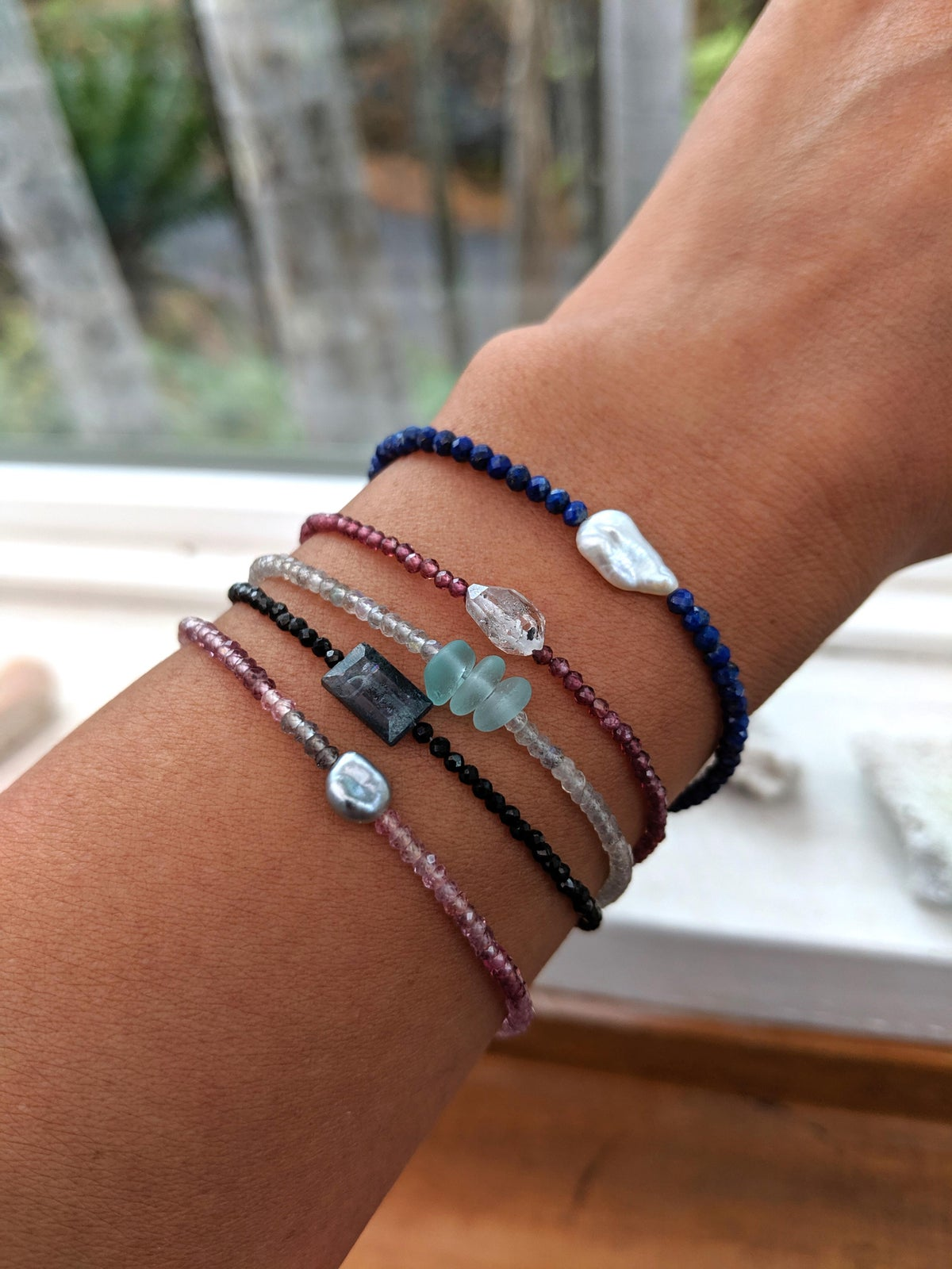 Image of Waikoloa Bracelet - Kyanite and Black Spinel