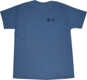 Image of SK8RATS 4:3 T-Shirt (Blue Grey)