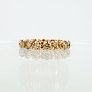 Image of 18ct Rose Gold Champagne Diamond Set Band