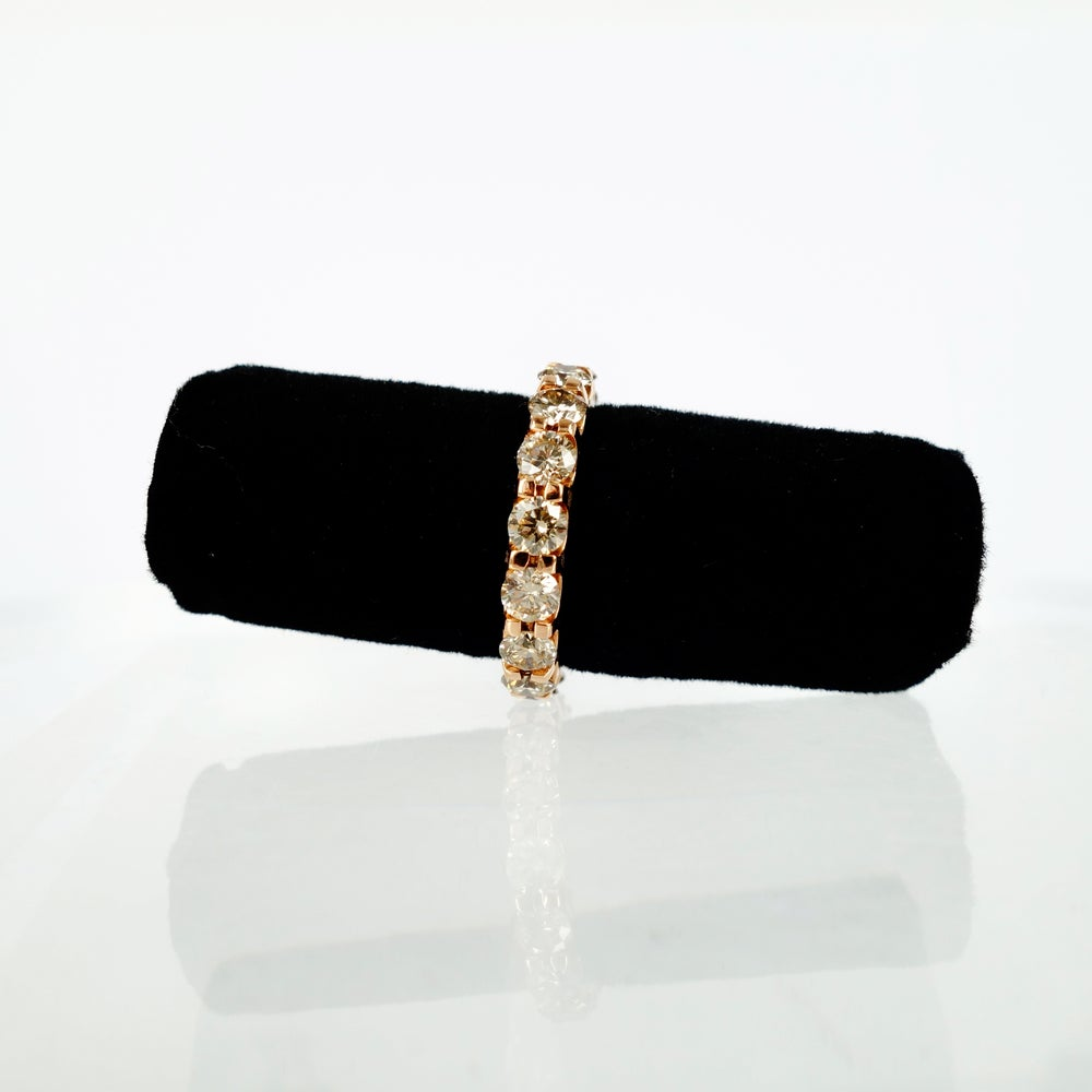 Image of 18ct Rose Gold Champagne Diamond Set Band