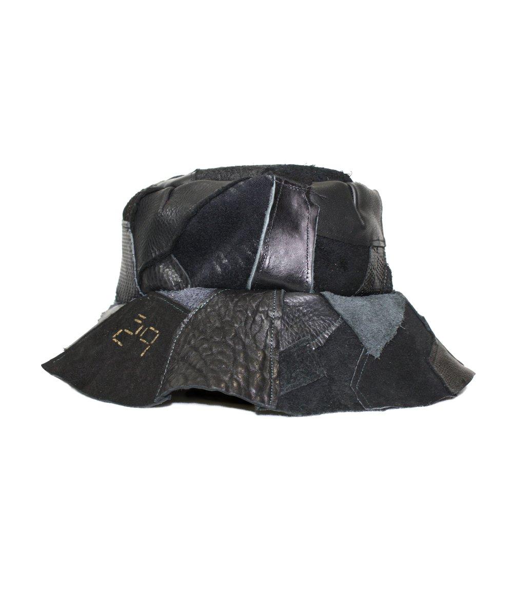 Image of BUCKET HAT (BLACK LEATHER)