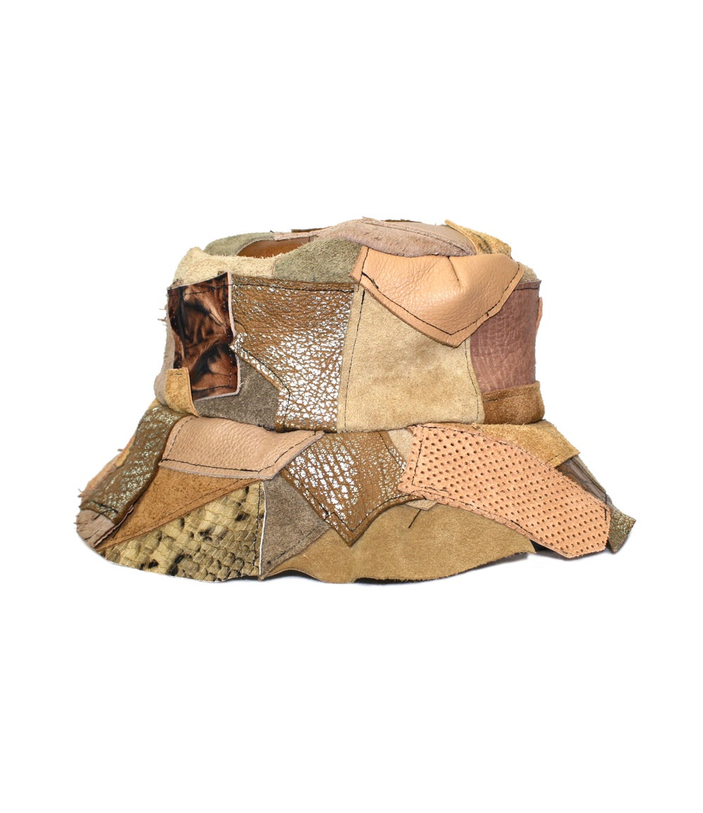 Image of BUCKET HAT (BROWN LEATHER)