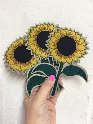 Image of Sunflower Iron on Patch