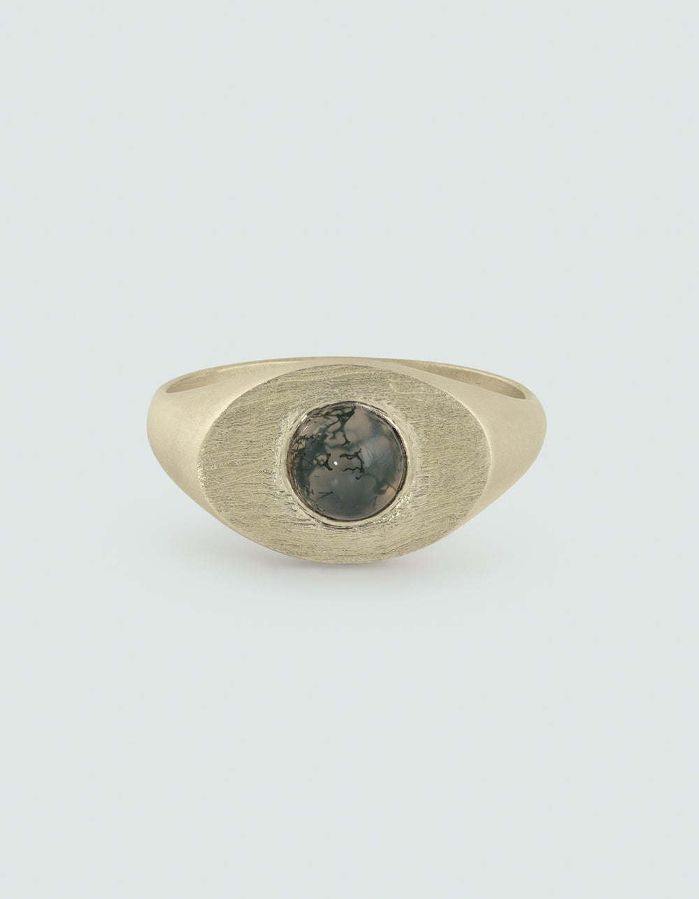 Image of 9CT SOLID YELLOW GOLD MOSS ORB RING